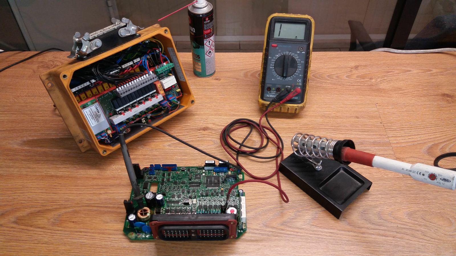 Reparación de mandos radio control para bombas de hormigón