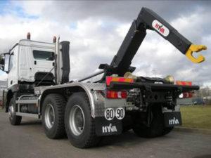 hidráulico sobre camión